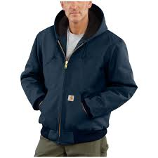 Carhartt Quilted Flannel Lined Duck Active Jacket - 108319 ... & Carhartt® Quilted Flannel Lined Duck Active Jacket, Dark Navy Adamdwight.com