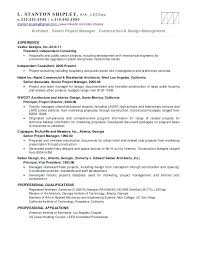 Architectural Project Manager Resume Job Description Construction Project Manager Resume Sample Interesting Design