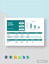 Template For Home Budget Free 13 Home Budget Examples Templates Download Now