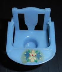 renwal vintage 1950s dollhouse nursery furniture blue potty chair 12 blue nursery furniture