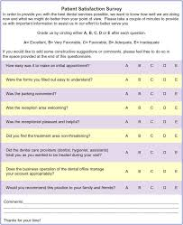 Sample Patient Satisfaction Survey. Wen Table 1B What Do People ...