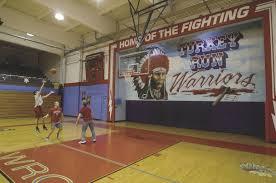 high school gym. Mark Bennett: Time To Say Goodbye Turkey Run High School Gym Mural