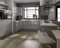 Remo Dove Grey Modern Grey Kitchen Kitchen Cabinet Design Light Grey Kitchen Cabinets
