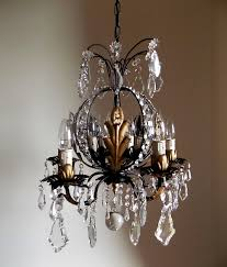 french vintage gilded chandelier crystal 10 lights