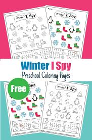The kids will love the fun and this christmas tree coloring sheet is free for you today to print out! Winter I Spy Coloring Pages Game Easy Level