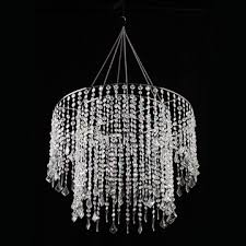 crystal beaded chandelier with light kit 18 5 in clear