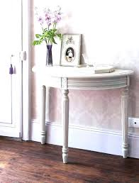 half round entry table grey moon console foyer ideas circle semi small wedding rustic with drawers half circle entry table
