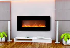 50 black wall mounted electric fireplace 1500w heater