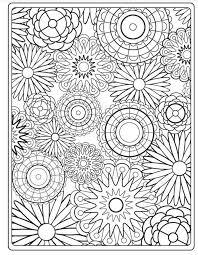 Small Picture Free Printable Bursting Blossoms Flower Coloring Page Free