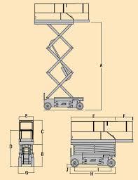 scissor lift model jlg 2630es tpl dimensional data