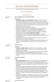 Account Manager/ Visual Merchandiser Resume samples