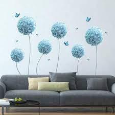 decalmile Blue Allium Flowers Wall ...