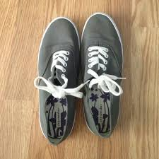 Fake Vans Fake Vans Grey Good Condition Only Worn Once Or Twice
