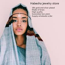 ethlyn best quailty ethiopian jewelry sets gold color hair jewelry 6pcs sets african jewelry for
