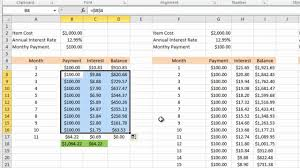 credit card payoff calculator excel calculating credit card payments in excel 2010 youtube