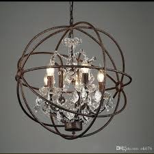 iron and crystal chandelier country hardware vintage orb crystal chandelier lighting rustic iron candle chandeliers light