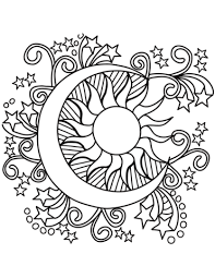 sun coloring page. Perfect Coloring Pop Art Sun Moon And Stars Coloring Page To Sun Coloring Page U