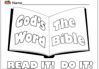 Biblical Coloring Pages For Kids With Free Printable Scripture