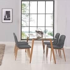 Table a manger verre et bois - Achat / Vente pas cher