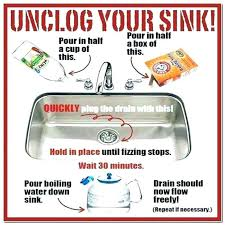 best way to unclog a sink best way unclog kitchen sink pictures also enchanting with vinegar best way to unclog a sink