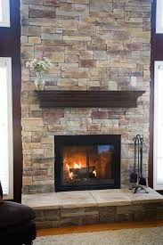 wonderful fireplace with stone veneer cool and best ideas