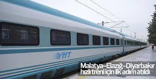 Malatya- Diyarbakır hızlı treni için ilk adım atıldı