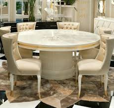 high end modern furniture. High End Modern Ivory Lacquered Round Dining Table Room Furniture