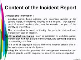 Incident Report Template Sample Accident Report 6