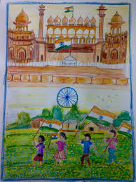 India Independence Day Charts Independence Day Drawing