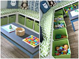 Ikea Toy Organizer Furniture Charming Ikea Toy Storage In Green Filled With Toys And