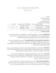 Free Wedding Planner Contract Templates Wedding Planner Contract Template
