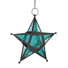 Glass Star Light Details About Gallery Of Light Blue Glass Star Lantern