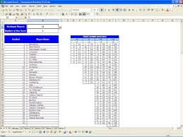 Bowling Spreadsheets Excel Bracket Template Excels Download
