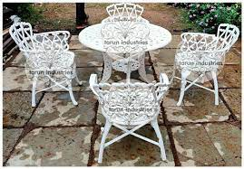 tarun industries white cast iron garden