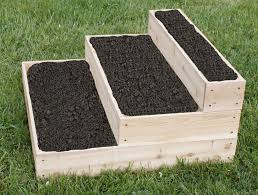 tiered cedar raised garden bed