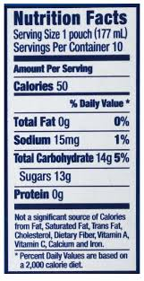 capri sun wild cherry juice drink nutrition facts