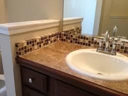 Exquisite Tile Countertop And Backsplash Traditional Bathroom On