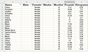Average Kitten Weight By Age Chart 40 Prototypic Kitten Weight Chart 14 Weeks