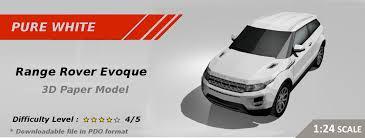 best papercraft car template range rover evoque 3d paper models range rover evoque 3d paper models papercraft