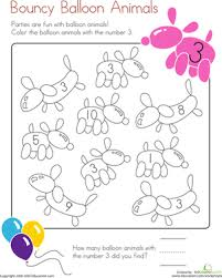 Small Picture Number 3 coloring Page Worksheet Educationcom