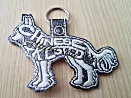 Dog Key Fob Embroidery Designs Embroidery Design Digitized Chinese Crested Dog Keychain 4 X 4