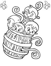 Baby Monkeys Colouring Pages Cute Baby Monkey Coloring Pages