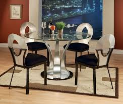alluring dining room sets glass top round dining table and chairs for 4 coaster cleveland round