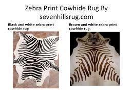 zebra print cowhide rug by zebra print cowhide rug