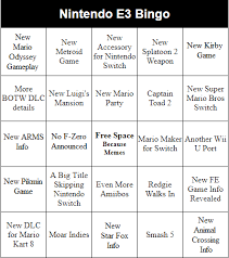 buzzword bingo generator nintendo switch e3 bingo gbatemp net the independent video