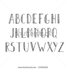 Cool Fonts To Write In Hand Drawn Alphabet Set Pencil Texture Handwriting Font