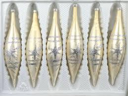 6 Tlg Glas Zapfen Set In Ice Champagner Silber Komet