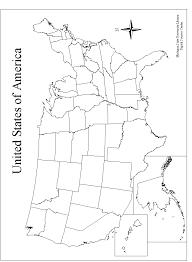 Free Printable Us Map Blank Blank Us Map States | Cdoovision.com
