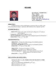 Job Resume Format For College Students Simple Examples Resumes