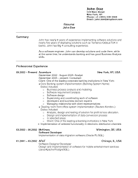 Sample Resume For Bank Jobs With No Experience Gallery